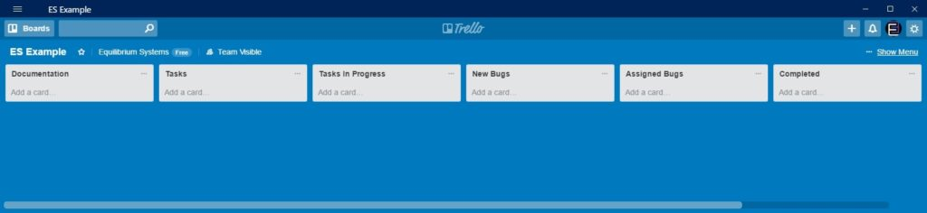 Tools of the Trade – Trello – Equilibrium Systems